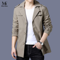Windbreaker Black, khaki, Navy S.F Marceau Business gentleman 170,175,180,185,190,195 Single breasted Medium length easy Other leisure autumn youth Lapel Business Casual Solid color No iron treatment Side seam pocket Button decoration