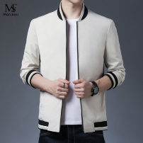 Jacket Other / other Youth fashion Black, Navy, beige 170,175,180,185,190 routine Syncytial type Other leisure spring Long sleeves Wear out stand collar Regular (50cm < length & 65cm) 2021 No iron treatment Regular sleeve Color matching Side seam pocket