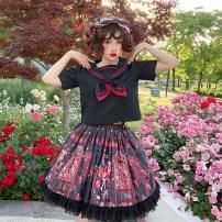 Lolita / soft girl / dress lemon White T-shirt spot, black T-shirt spot, white sailor suit spot, black sailor suit spot, pink strap spot, black strap spot L,M,S,XL