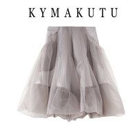 skirt Winter 2020 S,M,L,XL Gray, white, black Short skirt commute High waist Pleated skirt Solid color Type H 18-24 years old 31% (inclusive) - 50% (inclusive) other other fold Korean version