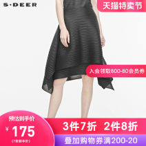 skirt Summer of 2019 S/160 M/165 L/170 XL/175 Black / 91 longuette commute Natural waist A-line skirt other Type A 25-29 years old S19281134 More than 95% s.deer polyester fiber lady Polyester 100% Same model in shopping mall (sold online and offline)