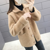 Wool knitwear Autumn of 2019 S M L XL Pink red black off white light coffee Long sleeves singleton  Cardigan other More than 95% Regular routine commute easy square neck routine Solid color Single breasted Korean version GBN3712AG 25-29 years old Gabbana Color fixing with stitching resin Other 100%