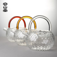 teapot Heat resistant glass other other no Hammer glass beam pot - transparent hammer glass beam pot - Ruihong hammer glass beam pot - golden tea stove - Oak style Rongshan Hall