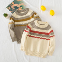 Sweater / sweater 90cm, 100cm, 110cm, 115cm for 120 yards, 125cm for 130 yards cotton male White collar wave sweater, grey collar wave sweater Other / other leisure time No model Socket routine Crew neck nothing Ordinary wool other Other 100% my0505 3, 4, 5, 6, 7