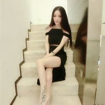 Dress Winter 2016 Red, blue, black L,M,S longuette Sleeveless Other Bandage pdd-218987468