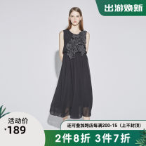 Dress Summer of 2019 Black / 91 S/160,M/165,L/170,XL/175 singleton  Sleeveless commute Crew neck Elastic waist Socket Irregular skirt other 25-29 years old Type A s.deer Ol style More than 95% other other