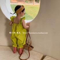 trousers Other / other female 80cm,90cm,100cm,110cm,120cm,130cm,140cm Fluorescent green, black summer Ninth pants Jumpsuit cotton Cotton 100% Seven, three, six, two, five, four Chinese Mainland