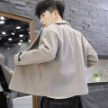 woolen coat M L XL XXL XXXL Tandenberg Youth fashion Polyester 100% Woolen cloth Autumn of 2019 routine Other leisure Self cultivation Pure e-commerce (online only) youth tailored collar Single breasted Youthful vigor Solid color Cloth hem Side seam pocket other washing