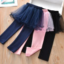 trousers Beibei umbrella female 90cm,100cm,110cm,120cm,130cm Black, pink, royal blue, ly607 pink, ly607 royal blue, ly607 black spring and autumn trousers Korean version No model Casual pants Leather belt middle-waisted cotton Don't open the crotch Other 100% LX046 Class B Chinese Mainland