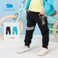trousers Les enfants male 80/1Y,90/2Y,100/3Y,110/4Y,120/6Y,130/8Y Blue, black spring and autumn trousers leisure time There are models in the real shooting Casual pants Leather belt middle-waisted cotton Open crotch Cotton 100% Spring 2021
