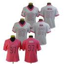 RUGBY WEAR # 85 kittle pink white ,# 85 kittle pink ,# 97 Bosa pink white ,# 97 Bosa pink S,M,L,XL,XXL NFL San Francisco 49ers Women