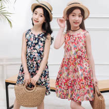 Dress female Other / other 100 (for height below 90cm), 110 (for height below 100cm), 120 (for height below 110cm), 130 (for height below 120cm), 140 (for height below 130cm), 150 (for height below 140cm), 160 (for height below 148cm), 90 (for height below 80cm) Cotton 100% summer Korean version