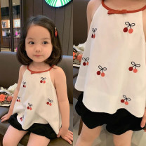 Vest sling Little cherry Sleeveless 80,90,100,110,120,130,140 spring and autumn female No model lady other Crew neck nothing other Polyester 100% other 3, 4, 5, 6, 7 Chinese Mainland Guangdong Province Guangzhou City