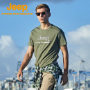 Quick drying T-shirt J122094557 male Brand black light army white Jeep / Jeep 501-1000 yuan M L XL 2XL 3XL 4XL Short sleeve Air permeability, wear resistance and quick drying Summer 2021 Crew neck Hiking, climbing, beach rafting, gliding and self driving China easy other printing no Urban leisure