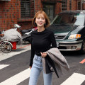 T-shirt Fall 2017 Long sleeves Crew neck Self cultivation Regular routine commute cotton 86% (inclusive) -95% (inclusive) 18-24 years old Korean version Solid color