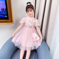 Dress Light pink and light blue collection and purchase priority delivery female Bobo goose 110cm 120cm 130cm 140cm 150cm 160cm Other 100% summer princess Short sleeve Solid color cotton A-line skirt X691 Class B Spring 2021 Chinese Mainland Zhejiang Province Hangzhou