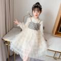 Dress female Bobo goose 110cm 120cm 130cm 140cm 150cm 160cm Other 100% spring and autumn lady Long sleeves Solid color Netting Cake skirt Q199 Class B Autumn 2020 Chinese Mainland Shanghai Shanghai