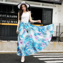 skirt Summer 2020 longuette High waist Sweet Bohemia A-line skirt Design and color Type A MYYX0326-2 Chiffon Bows, bandages, prints Other / other M,L,XL
