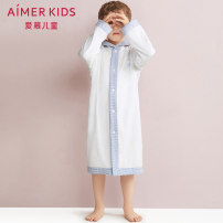 Bathrobe white Cotton 100% 120cm 140cm 160cm AIMER Kids male cotton