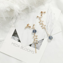 Ear clip Less than 100 yuan Their family Long crystal star earclip long tassel crystal asymmetric earclip long tassel opal asymmetric earclip brand new Original design female goods in stock other Fresh out of the oven Not inlaid seven thousand nine hundred and forty-five