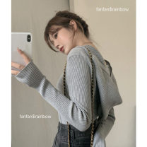 Wool knitwear Spring 2021 Average size Gray, black Long sleeves singleton  Socket other 31% (inclusive) - 50% (inclusive) Regular Thin money commute Self cultivation Hood routine Solid color Socket Retro 0117+ 18-24 years old Other / other