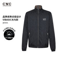 Jacket C'N'C Youth fashion Black pattern 46 48 50 52 54 56 58 routine standard Other leisure spring 811C111015 Polyester 100% Long sleeves Wear out stand collar youth routine Zipper placket Closing sleeve Spring 2021 Same model in shopping mall (sold online and offline)