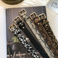Belt / belt / chain Pu (artificial leather) Leopard pattern small square gold button coffee color leopard pattern small square gold button apricot snake pattern small square gold button black snake pattern small square gold button white snake pattern small square gold button coffee color female belt