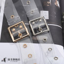 Belt / belt / chain plastic cement Gold button and silver button female belt grace Single loop Middle aged youth Pin buckle Glossy surface Glossy surface 3.3cm alloy alone Wet beauty SM08 105cm Spring / summer 2018