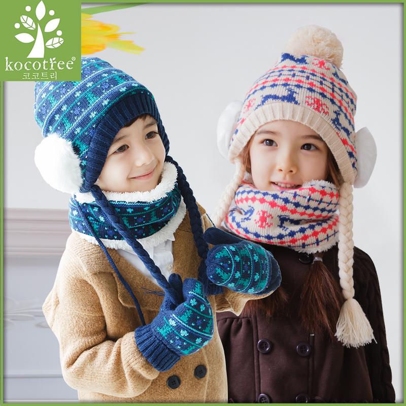 Multiple sets of hats, scarves, gloves, etc Маленький размер-48-52 см, фактическая окружность головы соответствует толстовому слою-52-56-фактическая окружность головной головы может быть покрыта бархатом. KQ15401 метрополитен Kocotree
