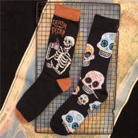 Socks / base socks / silk socks / leg socks lovers 1 pair routine Middle cylinder Four seasons Simplicity Cartoon animation cotton Home