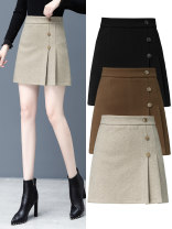 skirt Autumn 2020 26,27,28,29,30,31 1400 black, 1400 caramel, 1400 apricot, 1398 black, 1398 caramel, 1398 apricot Short skirt commute High waist Pleated skirt Solid color Type A 25-29 years old 81% (inclusive) - 90% (inclusive) Wool Other / other polyester fiber zipper Korean version