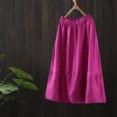skirt Spring 2021 Average size Rose red, blue, purple, black, orange, rose pink Mid length dress commute Natural waist A-line skirt Solid color Type A GT064—11278 More than 95% Zeeoiy / alternative hemp pocket