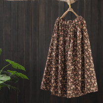 skirt Spring 2021 Average size Blue, brown Mid length dress commute Natural waist A-line skirt Solid color Type A 25-29 years old DH031—4248 More than 95% other Zeeoiy / alternative hemp Print, button, zipper, pocket