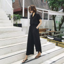 Casual pants black S M L XL Summer of 2019 Ninth pants Jumpsuit Natural waist commute Thin money 18-24 years old 91% (inclusive) - 95% (inclusive) YLSX190 Art in love with Su Korean version pocket Other polyester 95% 5% Pure e-commerce (online only)
