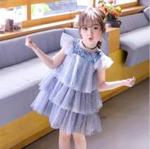 Dress grey female Other / other 100cm,110cm,120cm,130cm,140cm Polyester 50% cotton 50% summer leisure time Skirt / vest Solid color Chiffon Cake skirt A01253 Class B 7, 8, 3, 6, 13, 11, 5, 4, 10, 9, 12 Chinese Mainland Guangdong Province Guangzhou City