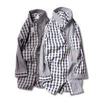 shirt Fashion City Others M,L,LL Basket white grid, black gray grid routine Button collar three quarter sleeve Self cultivation Other leisure summer youth Cotton 100% like a breath of fresh air 2019 lattice oxford washing cotton More than 95%