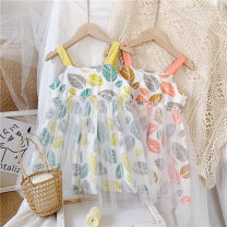 Dress Yellow, pink female Other / other Other 100% summer leisure time Skirt / vest other A-line skirt other 2 years old, 3 years old, 4 years old, 5 years old, 6 years old, 7 years old, 8 years old