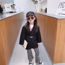 suit Other / other T-shirt, coat, pants 5 (recommended height 85-90cm), 7 (recommended height 90-100cm), 9 (recommended height 100-105cm), 11 (recommended height 105-110cm), 13 (recommended height 110-117cm), 15 (recommended height 117-125cm) female spring and autumn Korean version routine Socket