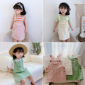 Dress female Other / other Other 100% spring and autumn Korean version Strapless skirt Solid color cotton other 2 years old, 3 years old, 4 years old, 5 years old, 6 years old, 7 years old, 8 years old