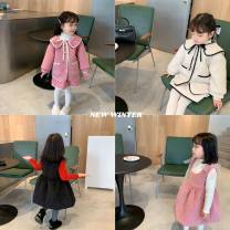 suit Other / other Pink suit, pink vest skirt, black suit, black vest skirt, beige suit, beige vest skirt female winter Korean version Long sleeve + skirt 2 pieces thickening There are models in the real shooting Socket nothing Solid color cotton children Expression of love AQZ140 other