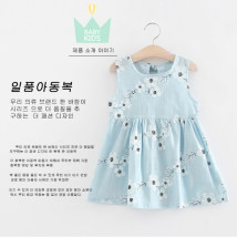 Dress Pink Blue Other / other female 7 (recommended height 95cm) 9 (recommended height 100cm) 11 (recommended height 110cm) 13 (recommended height 115cm) 15 (recommended height 125cm) Other 100% summer other Skirt / vest other A-line skirt C446QZ