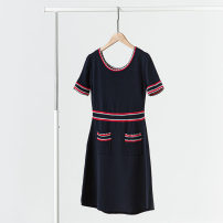 Dress Summer 2021 White, blue Xs, s, m, l, XS (Times), s (Times), m (Times), l (Times) Middle-skirt Crew neck Solid color 51% (inclusive) - 70% (inclusive) other other