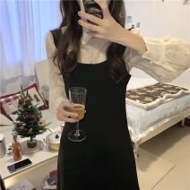 Fashion suit Spring 2021 S, M 9209 # shirt, 9210 # suspender skirt 18-25 years old 71% (inclusive) - 80% (inclusive) polyester fiber