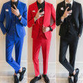 Western-style trousers Hanfancy Fashion City Red [long sleeve suit + trousers + vest] M HFX1400 Polyester 95% polyurethane elastic fiber (spandex) 5% Summer of 2018 Pure e-commerce (online only)