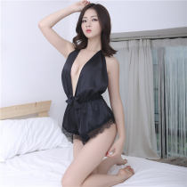 Fun suit Intoxicated and happy polyester fiber black seven thousand two hundred and ninety-six Dew opening crotch style other other seven thousand two hundred and ninety-six One Piece Pajamas Average size