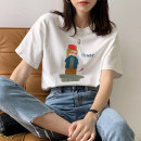 T-shirt S M L XL Spring 2021 Short sleeve Crew neck easy Regular routine commute other 96% and above 25-29 years old Korean version originality Shurzzeln / Xia Zhen K51 3D printing Other 100%