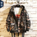 Jacket Zhe Gu Youth fashion Pj27 - camouflage M L XL 2XL 3XL routine easy Other leisure autumn PJ27-ASDA-CLM Polyester 100% Long sleeves Wear out Hood tide routine Zipper placket The appearance is loose and the inside is closed other Autumn of 2019