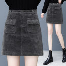 skirt Winter 2020 S,M,L,XL,2XL,3XL,4XL Black, grey, brown Short skirt commute High waist skirt Solid color Type A 25-29 years old YL5516 More than 95% corduroy Other / other cotton Pocket, button, zipper, stitching Korean version 101g / m ^ 2 (including) - 120g / m ^ 2 (including)