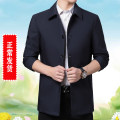 Jacket Laoyeche / classic car Business gentleman 170,175,180,185,190,200 routine easy Other leisure spring Long sleeves Wear out Lapel Business Casual middle age routine Single breasted 2020 No iron treatment Solid color polyester fiber More than two bags) polyester fiber