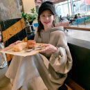 Sweater / sweater Winter 2020 Grey purple black S M L XL Long sleeves have more cash than can be accounted for Socket singleton  Plush Hood easy commute routine Solid color 96% and above Enchantment of imperial concubines Korean version cotton F217 Drawstring Cotton liner Cotton 100%